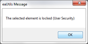 eautils locked element (EA user security)